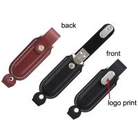Custom 1GB, 2GB, 4GB, 16GB Metal and Leather Usb Sticks Flash Drive with Dual LED Manufactures