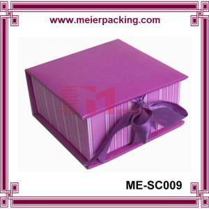 China Gift box with ribbon, printing custom present paper box, clamshell gift box ME-SC009 wholesale