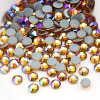 China Round Garment Hotfix Glass Rhinestones / Luxury Loose Colored Rhinestones wholesale