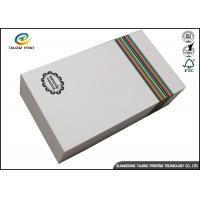 Customized Paper White Cardboard Gift Boxes For Apparel Packaging Manufacture