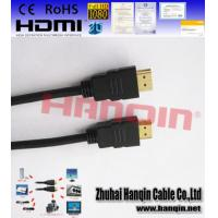 China 2015  wholesale 24K gold plated high speed HDMI cable with braid 1080P F wholesale