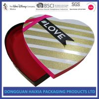 China Rigid Custom Gift Boxes With Ribbon , Decorative Cardboard Boxes Easy To Take on sale