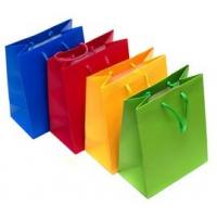 China Personalized Printed Paper Gift Bags , Colorful Rope Handle Paper Bags wholesale