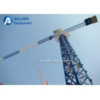 China 5 Ton Climbing Flattop Tower Crane QTP50 5010 Hydraulic Cylinder Lifting Hook wholesale