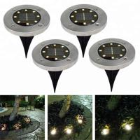China Yellow Solar Powered LED Ground Lights / Solar Powered Walkway Lights wholesale