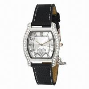 China New Style Jewelry Wristwatch w/ Stone on Bezel, Elegant Style, IPS Plating Metal Case, Leather Strap wholesale