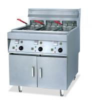China 2 Tanks 4 Basket Electric Deep Fryer Commercial With Computer Control Panel wholesale