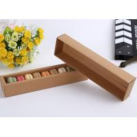 China White / Brown Food Macaron Paper Cake Boxes / Kraft Packaging Boxes on sale