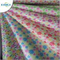China Multi Color Printed Faux Leather Fabric Chunky Shiny Wear Resistant wholesale