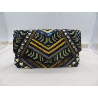 China hand made beads envelope flap oversized clutch bag wholesale