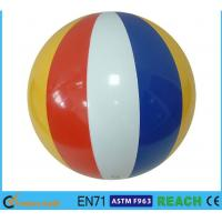 "China 16"" Dia Giant Beach Ball,Rainbow Colored Plastic Beach Balls For Swimming Pools wholesale"
