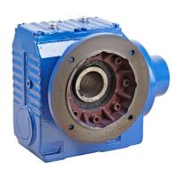 China Right Angle Helical Worm Gear Speed Reducer , S Series 90 Degree Gearbox wholesale