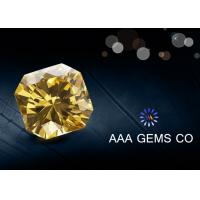 China Synthetic Round Yellow Colored Moissanite Fancy Cutting Shape wholesale