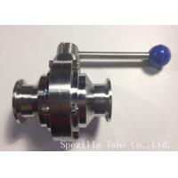 """TP316/316L Stainless Steel Santiary Butterfly SS Valves 1"""" for dairy Manufactures"""