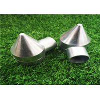 China Polished Silver Aluminum Chain Link Fence Bullet Caps 2.56''X3.74'' Easy Install wholesale