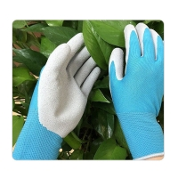 China Mens Mechanics Polyester Foam Latex Coated Hand Gloves on sale