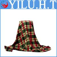 China adult check grid polar fleece blankets sheet set panel printing manufacturer in china wholesale