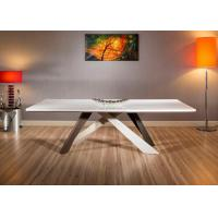 China Contemporary White Dining Table , Modern Rectangular Dining Table E1 Standard wholesale