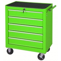 "China 616x330x660mm 24"" 5 Drawer Rolling Tool Cabinet Garage Metal Trolley wholesale"