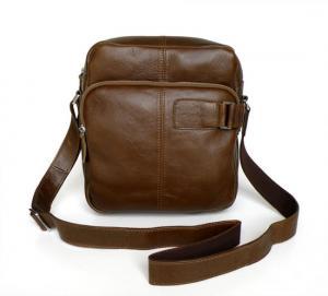 China Wholesale Price Great Vintage tan Leather Briefcase Messenger Bag Purse #7006R wholesale