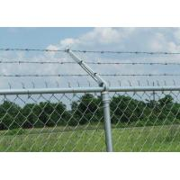 China 8 Ft X 50 Ft Chain Link Fabric Fencing With Razor Barbed Wire For High Level Security wholesale