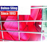 China 150 MM 5 Ton Red Heavy Duty Polyester Webbing Roll TUV GS Certificate wholesale