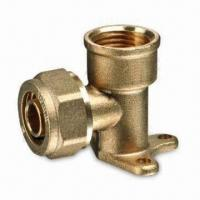 China Brass Compression Fittings for PEX Pipes, with Forged Body and Nut, Meets ISO/CE Marks on sale