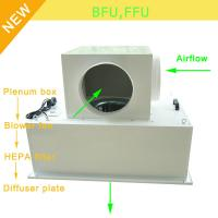 China Low Noise 65bBA Clean Room Blower Fan Filter With Large Airflow 0.35 - 0.75m/S Speed wholesale
