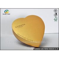 China Handmade High Grade Cardboard Chocolate Boxes , Food Gift Boxes Heart Shaped on sale