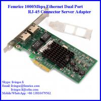 China Femrice 1000M 2 Ports RJ-45 Connector PCI Express x4 Server Adapter (Intel 82571 Chipset) wholesale