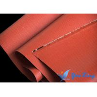 China Roll Silicone Coated Fabric With Good Heat Resistance And Fireproof Performance wholesale