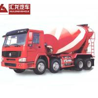 Buy cheap Self Loading Mobile Concrete Mixer Truck , Red Color Cement Concrete Mixer from wholesalers