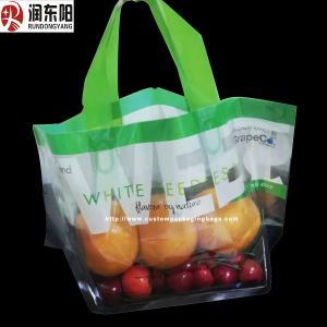 Color Printed Zipper Lock Bags Fruit Packaging Laminated Punch Plastic Material