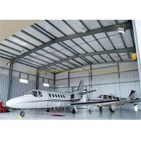China Large Span Structurel Steel Airplane Hangars With Frame Use Life 50 Years wholesale