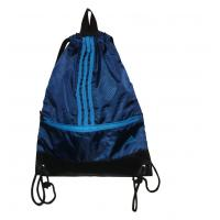 China Shopping Fabric Carrier Bags Water Proof Black PU Base With Nylon Hanger wholesale
