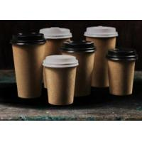 China Food Grade Heat Resistance Brown Paper Coffee Cups Recyclable Single Wall 8oz 12oz wholesale