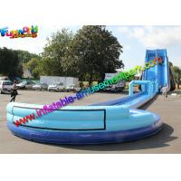 China Exciting big water pool inflatable water slide with swimming pool , bounce house jumpers on sale