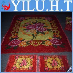 China cheap bright color velvet fabric bedsheet composition wholesale