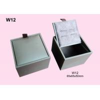 Paper Wrapped Wood Cufflink Packaging Box, Wooden Gift Boxes Customized