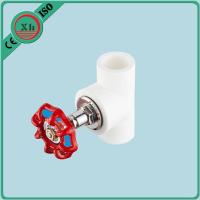 China OEM / ODM PPR Stop Valve Heat Preservation With Red Metal Hand Wheel wholesale