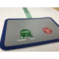 China Waterproof membrane switch with 3M adhesive and 2 embossed buttons wholesale