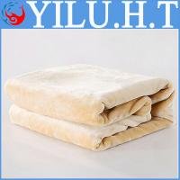 China decorated plain cute knitting solid colored pattern and color free baby coral fleece blankets wholesale