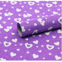 China 10um Gold Heart Glitter Gift Wrapping Paper For Ribbons Decoration wholesale