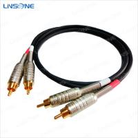 China Gold plated male to male RCA cable wholesale