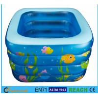China Square Inflatable Swimming Pool Sea Animal Printing Easy Setting Up For Kids Toy wholesale