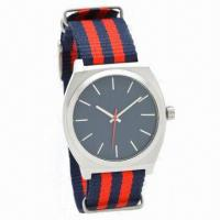 China Fashionable Men's Watch with Nylon Strap and Alloy Case, Mix Color Interchangeable Strap wholesale