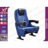 China PU Molded Foam Powder Coating Base Cinema Theater Chairs With Flexible Armrest wholesale