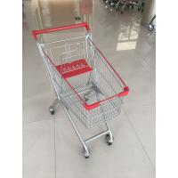 China 60 L 4 PU Casters Supermarket Shopping Carts , Shopping Push Cart With Groceries wholesale