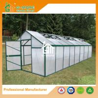 China Aluminum Greenhouse-Titan series-806X306X243CM-Green/Black Color-10mm thick PC wholesale