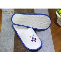 China Indoor Guest Disposable Hotel Slippers Ladies White Waffle Slippers wholesale